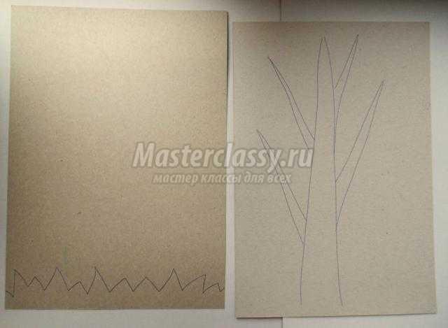 композиция из бумаги и пластилина