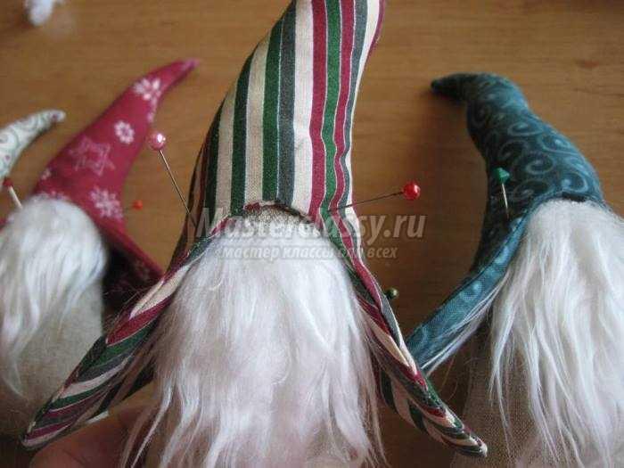 Гномики к Рождеству. Текстильные игрушки или декор к празднику