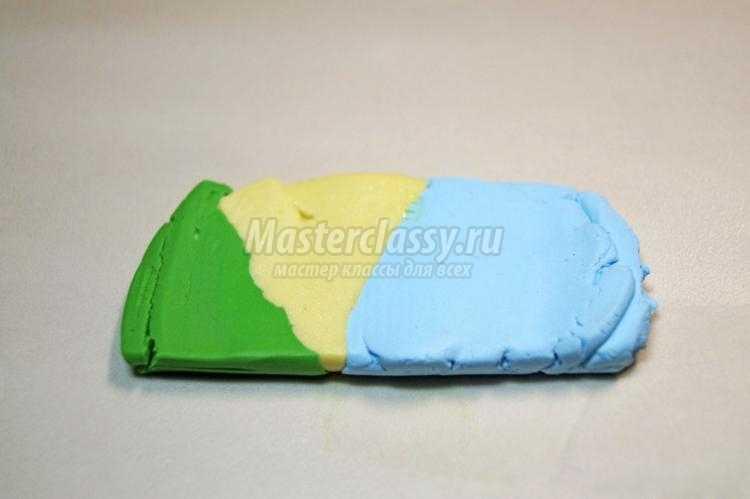 комплект бижутерии из полимерной глины. Голубая дымка