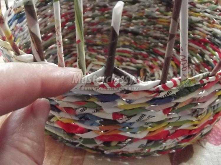 Шкатулка из газетных трубочек пошаговая с фото