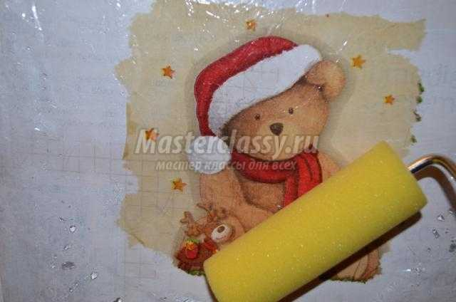 декупаж коробки для новогодних игрушек своими руками