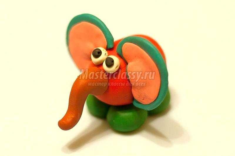 пластилиновый слоник