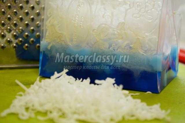 зимнее многослойное мыло своими руками
