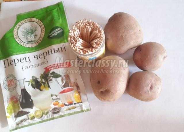 поделки из овощей. Картофельный медвежонок