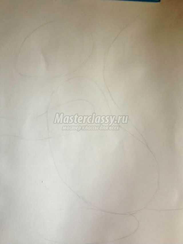 осенний рисунок с аппликацией. Запасливая белка