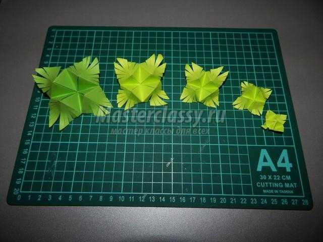 модульное оригами. Осенняя деревенька