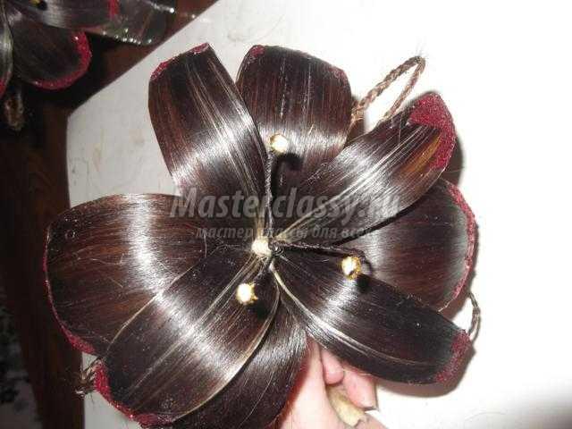цветы из натуральных волос