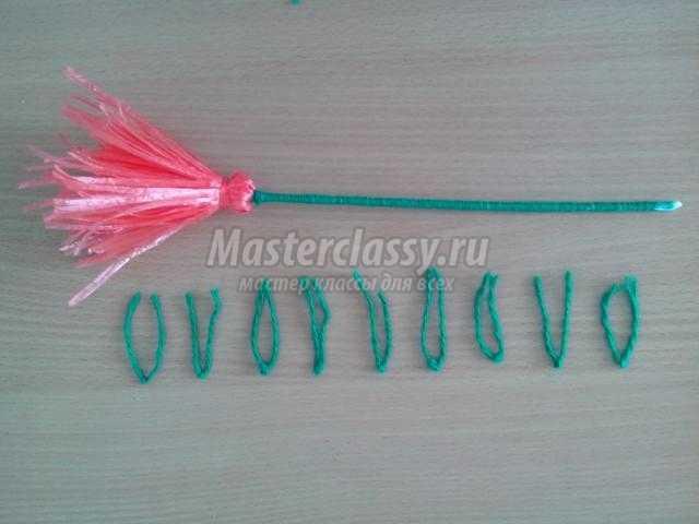 гвоздики из капроновых ниток