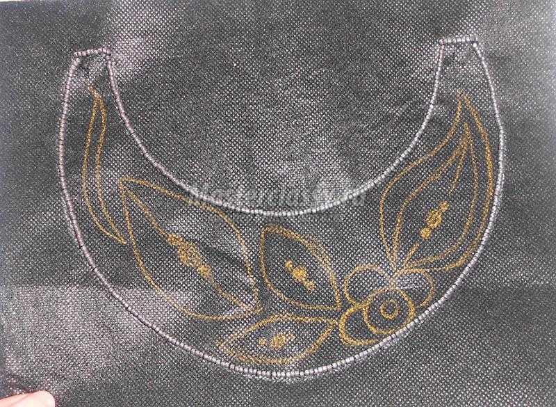 вышивка бисером для начинающих колье серебряный сентябрь мастер