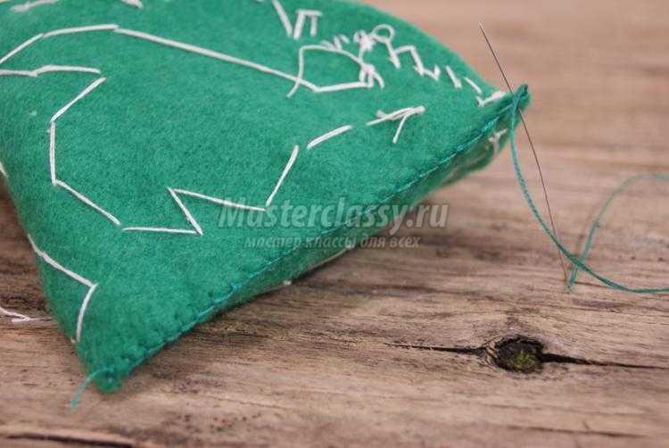 рукодельная елочка из фетра своими руками