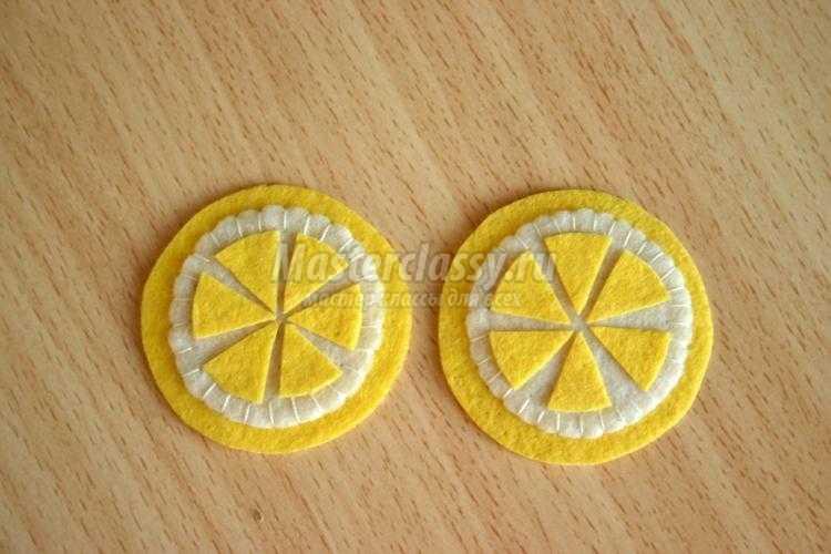 еда из фетра. Овощи, лимон и красная рыба