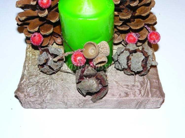 новогодний декор свечи своими руками