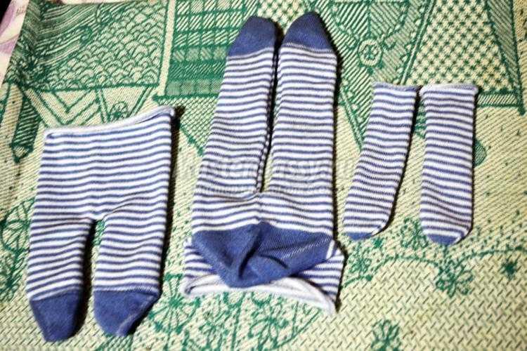 зайка из носочков своими руками