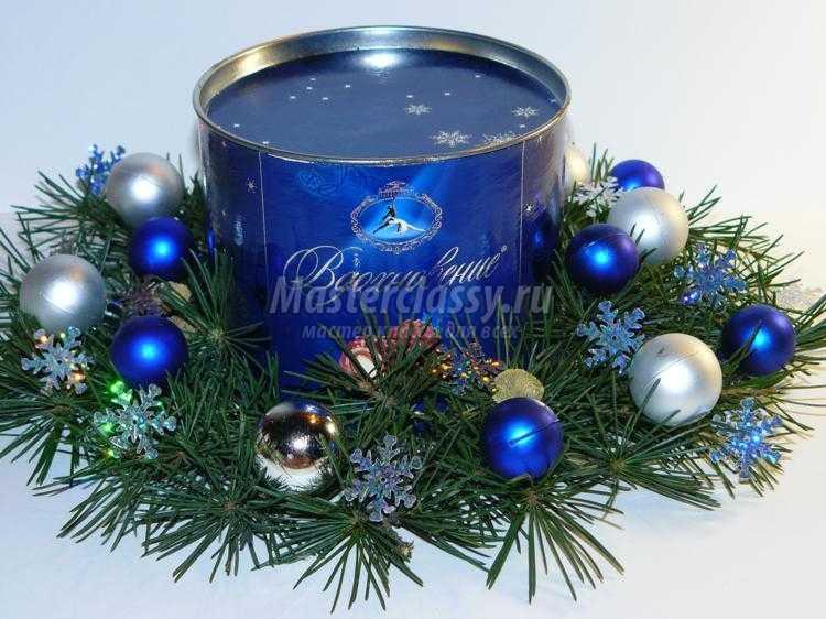 новогоднее оформление коробки конфет. Вдохновение