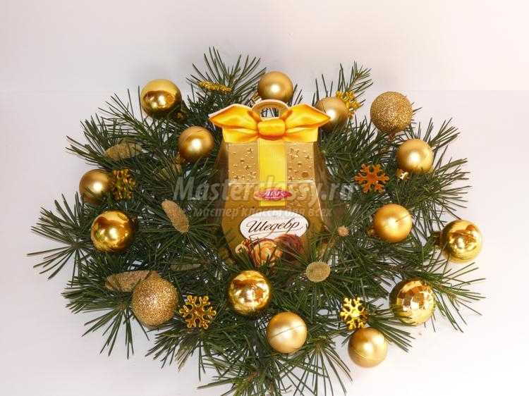 декор коробки конфет к Новому году