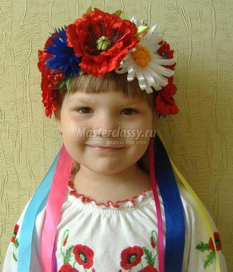 украинский венок с цветы из лент