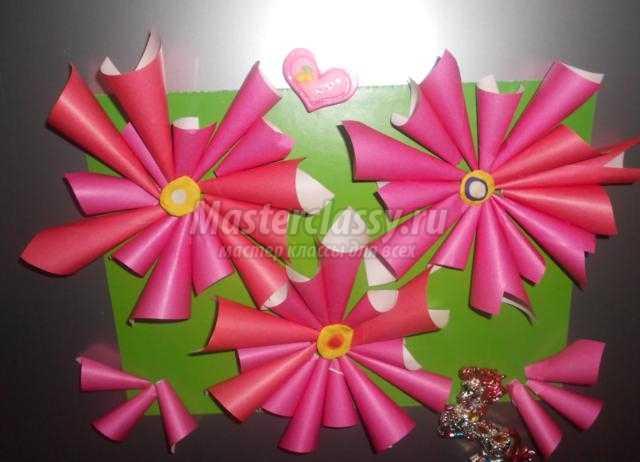 волшебные цветы из бумаги для любимой мамочки