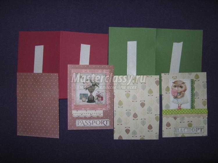 Обложки на паспорт в технике скрапбукинг. Мастер-класс с пошаговыми фото