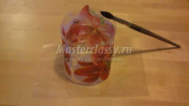 композиция из пластиковых бутылок. Золотая осень