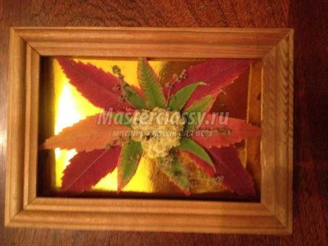панно из осенних листьев своими руками