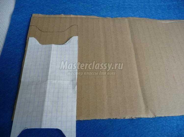 органайзер из картона для лент и ниток