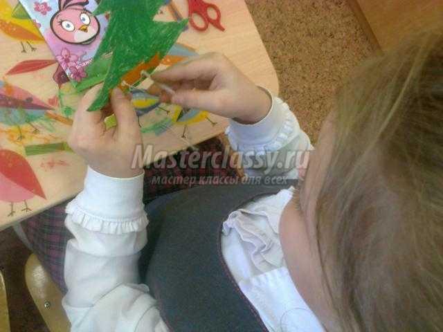 новогодняя елочка из бумаги с конфетами