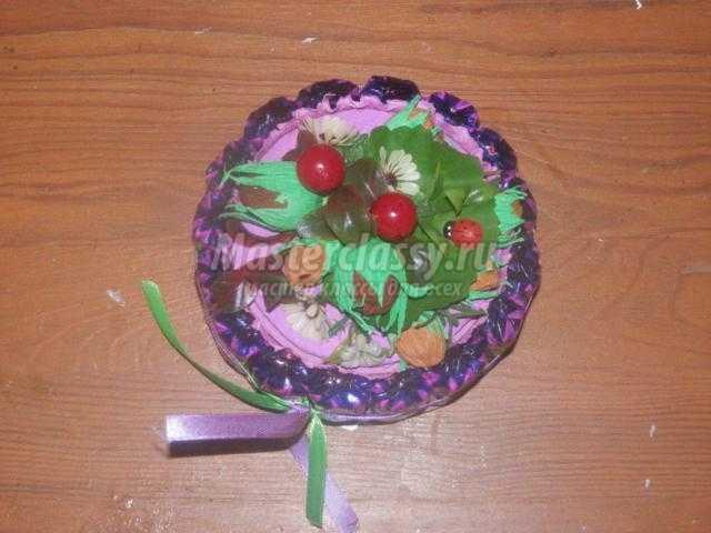 конфетная коробочка из бобины от скотча