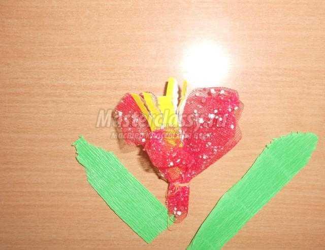 цветы для мамы из ткани и бумаги
