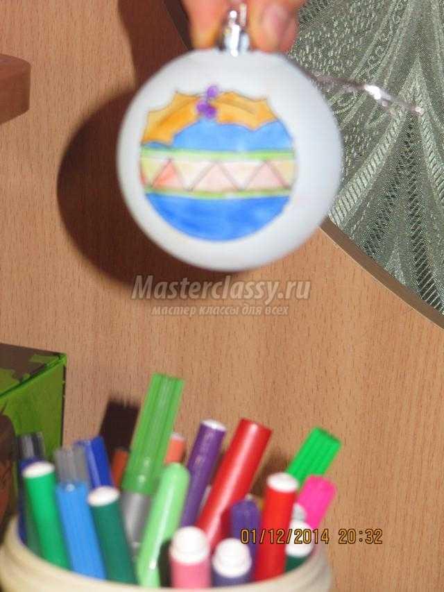 новогодний сувенир. Ёлочные шарики с росписью