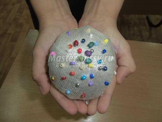 елочная игрушка из ткани своими руками
