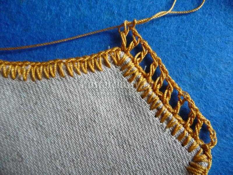 салфетка вязанвя крючком