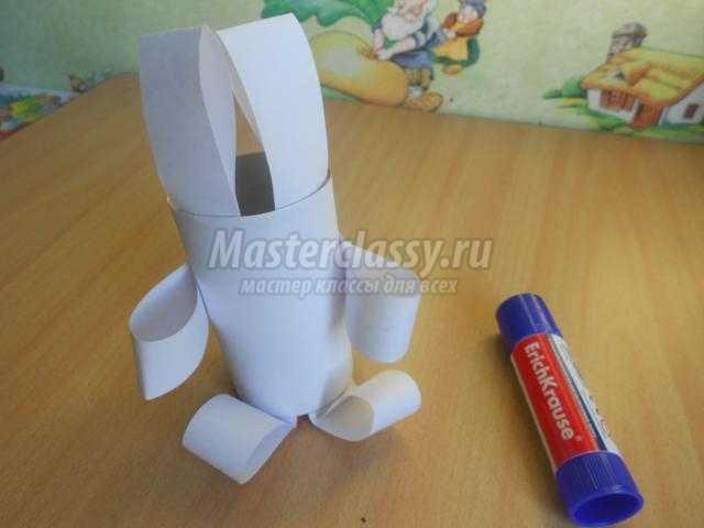 елочная игрушка из бросового материала. Заинька
