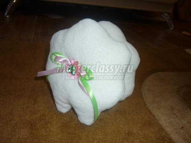текстильная овечка из ткани своими руками
