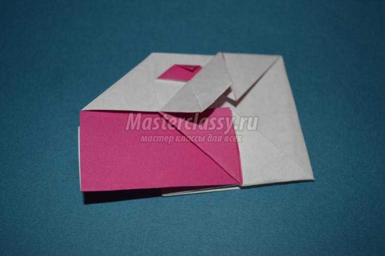 оригами. Валентинка-конверт ко Дню влюбленных