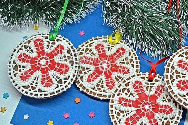 Печенье новогодние шары на елку