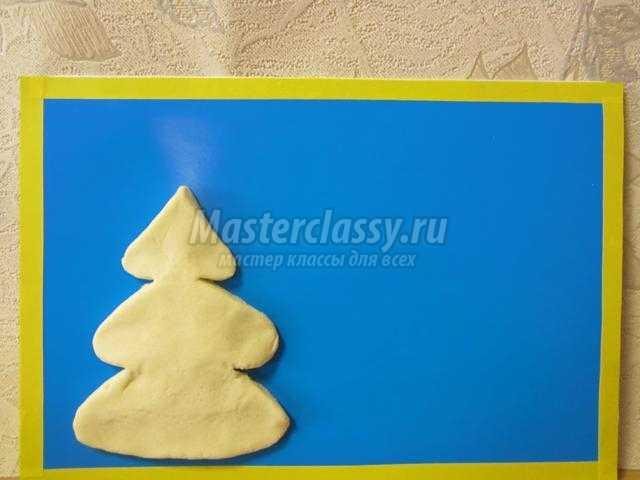 новогодняя открытка из соленого теста. Новый год