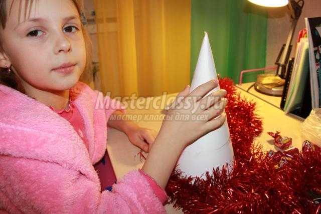 конфетная елочка своими руками