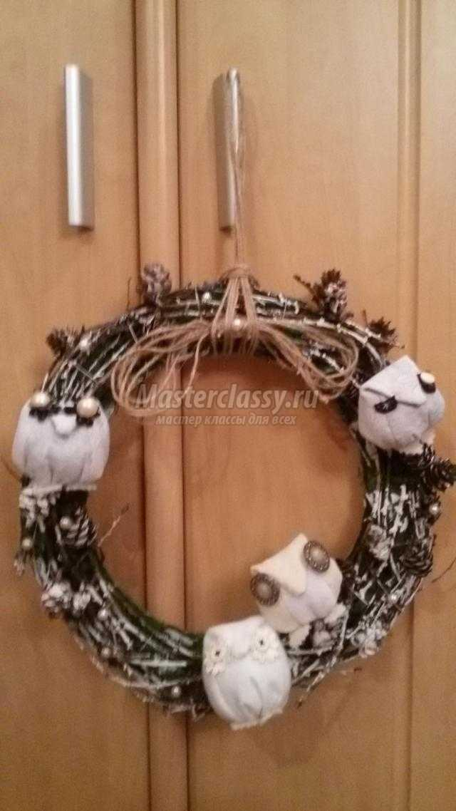 рождественские венки своими руками
