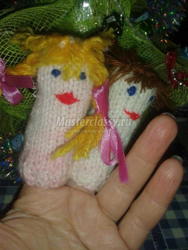 вязаные куклы для пальчикового театра