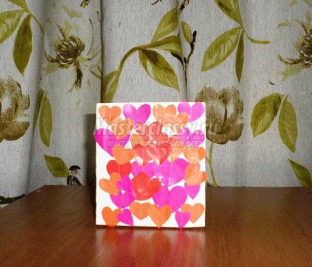 открытки ко Дню Святого Валентина в технике аппликация