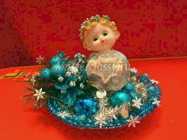 рождественская композиция с ангелом