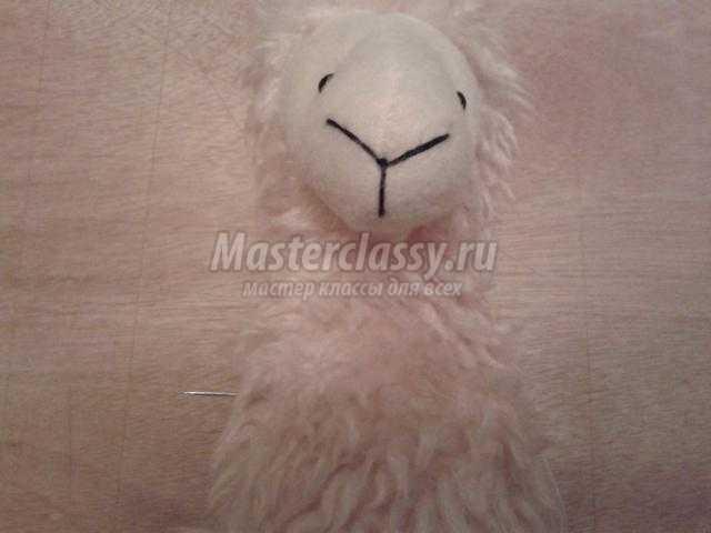овечка из флиса своими руками