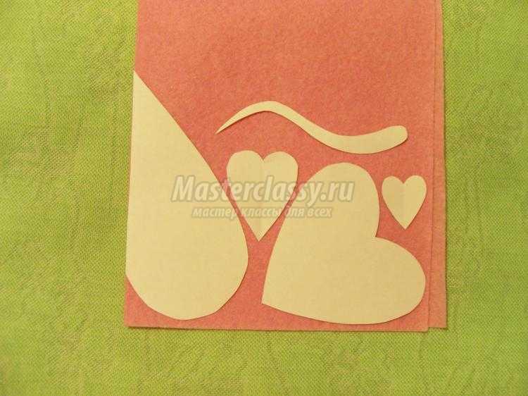 мышки-валентинки из вискозных салфеток
