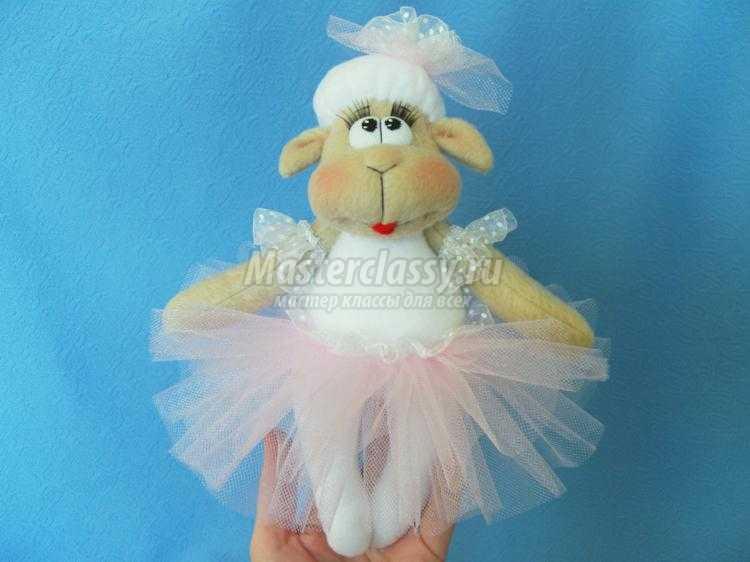 овечка-балерина из флиса своими руками