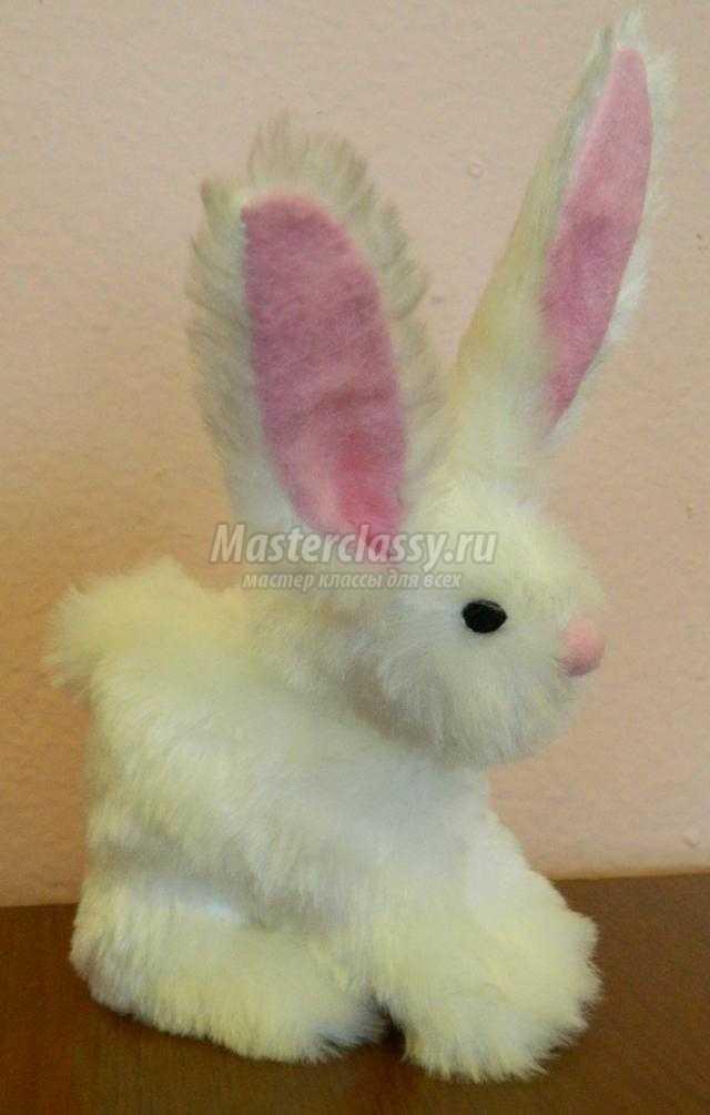 мягкие игрушки своими руками. Кролик из меха
