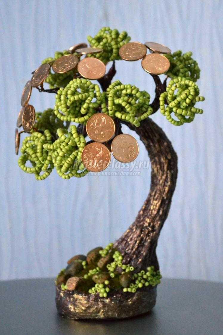 схема из бисера плетения денежное дерево