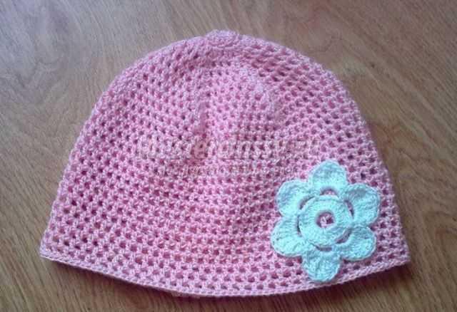 Вязание простой шапочки для девочки » вязание спицами и крючком.