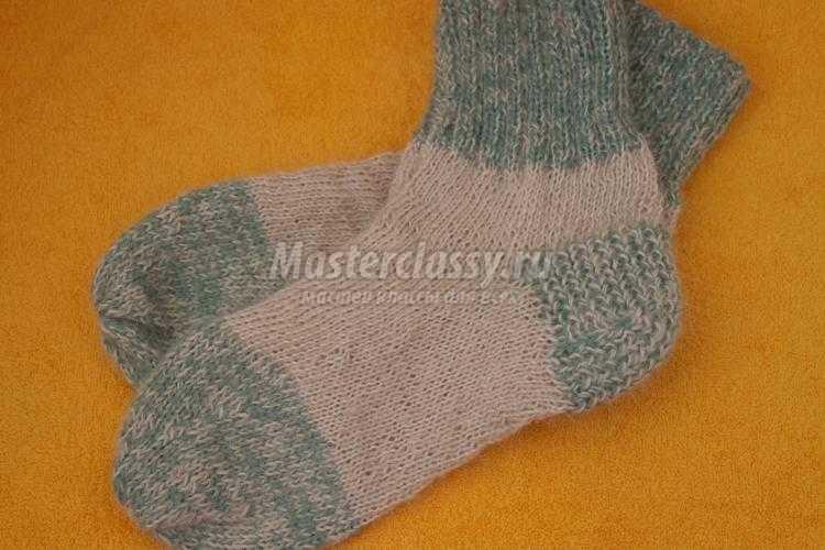вязаные мужские носки спицами мастер класс с пошаговыми фото