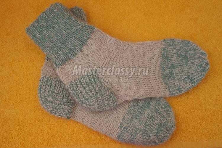 Вязаные мужские носки спицами. Мастер-класс с пошаговыми фото