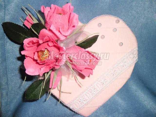 валентинка из конфет своими руками. Вдохновение